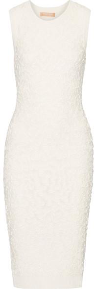 MICHAEL Michael KorsMichael Kors Collection - Soutache Stretch-knit Midi Dress - White