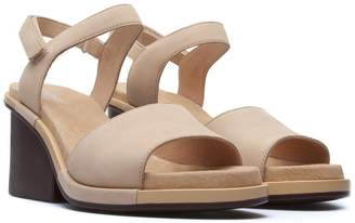 Camper Ivy Leather Ankle Strap Sandal