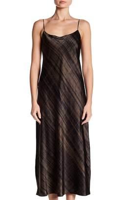 Vince Hazy Plaid Slip Silk Dress