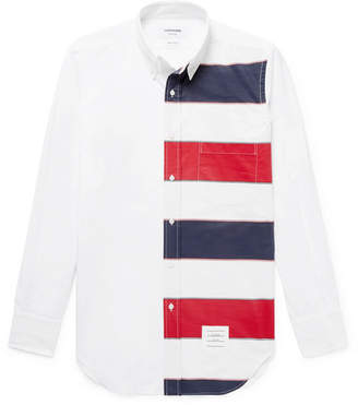 Thom Browne Slim-fit Button-down Collar Striped Cotton-poplin Shirt