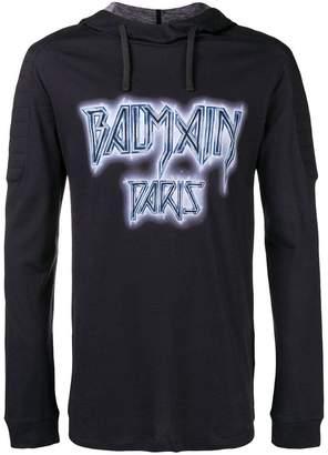 Balmain printed hooded T-shirt