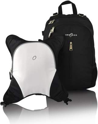 Obersee Rio Diaper Bag Backpack with Detachable Cooler (Black/White)