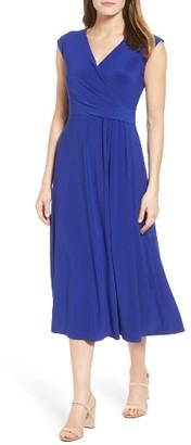 Women's Chaus Faux Wrap Midi Dress $99 thestylecure.com