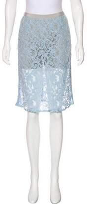 Sacai Luck Lace Knee-Length Skirt