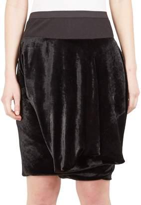 Rick Owens Women's Layered Velvet Shorts