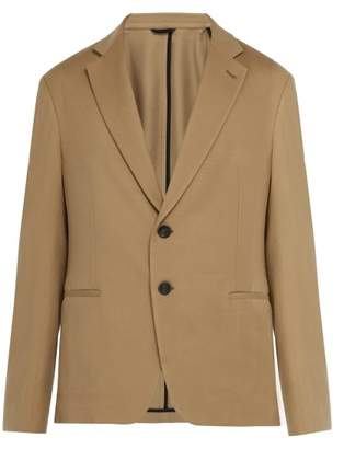 Giorgio Armani Slim Fit Wool Blend Blazer - Mens - Beige