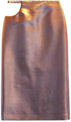 Maison Margiela Midi Skirt with Cut-Out