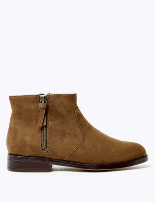 Marks and Spencer Faux Fur Lined Side Zip Ankle Boots