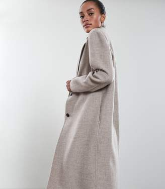 Reiss Our last order date for Christmas has now passed BERKLEY BLIND SEAM LONGLINE OVERCOAT Oatmeal