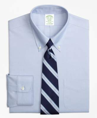 Brooks Brothers Stretch Milano Slim-Fit Dress Shirt, Non-Iron Button-Down Collar