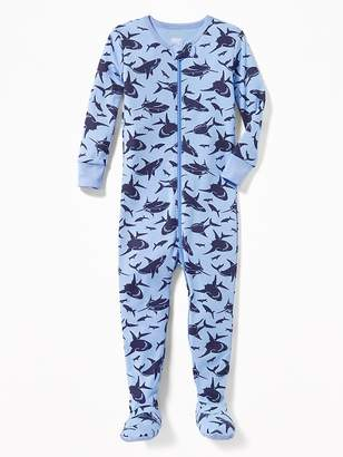 Old Navy Shark-Print Footed Sleeper for Toddler & Baby