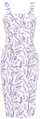 Max Mara Zolder sleeveless floral-printed dress