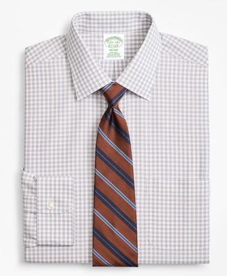 Brooks Brothers Milano Slim-Fit Dress Shirt, Non-Iron Framed Windowpane