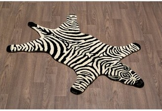 Harriet Bee Chad Handmade Black/White Area Rug Harriet Bee