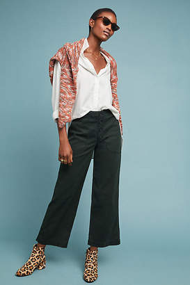 AG Jeans The Etta High-Rise Cropped Wide-Leg Jeans