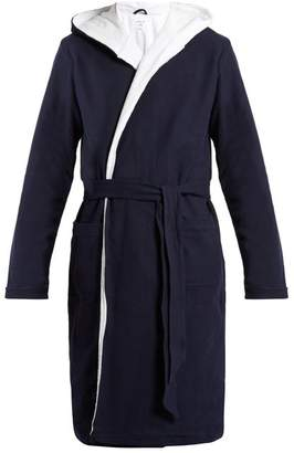 Hamilton And Hare - Cotton Towelling Bathrobe - Mens - Navy