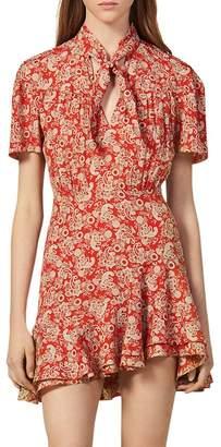 Sandro Lane Paisley Mini Dress
