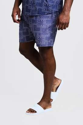 Big & Tall Bandana Print Swim Shorts