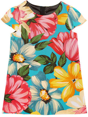 Milly Minis Chloe Floral-Print Dress, Size 4-7