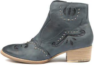 Django & Juliette Lucilles Navy-navy metallic Boots Womens Shoes Casual Ankle Boots