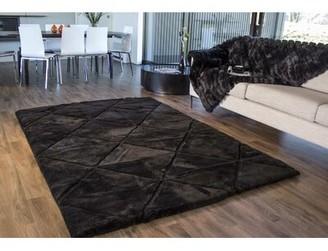 Bowron Sheepskin Rugs Shortwool Black Design Rug Sheepskin Rugs