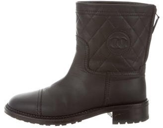 Chanel CC Moto Ankle Boots