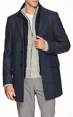 Fay Men's Pierce Vest-Lined Wool Coat