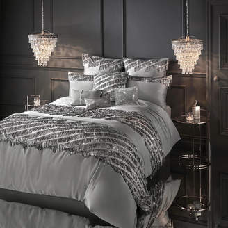 Kylie Minogue At Home at Home - Eliza Duvet Cover - Pewter - Double