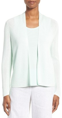 Women's Eileen Fisher Ribbed Tencel Straight Crop Cardigan $238 thestylecure.com
