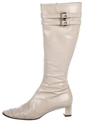 Louis Vuitton Patent Leather Mid-Heel Boots