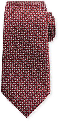 Ermenegildo Zegna Neat Basketweave Silk Tie, Red $245 thestylecure.com
