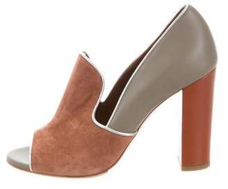 Malone Souliers Peep-Toe Leather Pumps