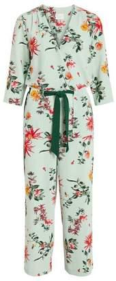 Vila Blue Haze Mono Floral Viflourisa Jumpsuit - 34 - Green/Orange/Pink