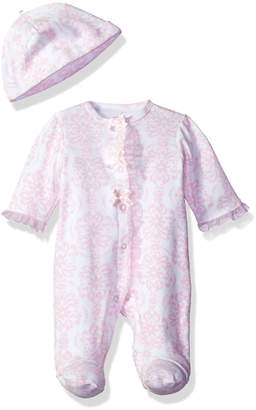 Little Me Baby-Girls Newborn Damask Scroll Footie and Hat