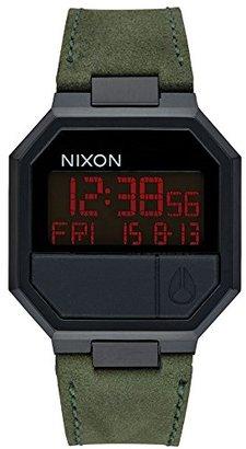 nixon unisex digital quartz leather a944032
