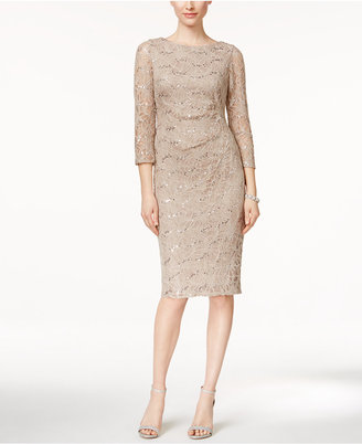 Jessica Howard Sequined Lace Sheath Dress $99 thestylecure.com