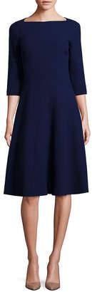 Lafayette 148 New York Nouveau Crepe Bristol Wool Dress