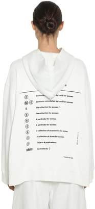 MM6 MAISON MARGIELA Totally Label Print Cotton Hoodie