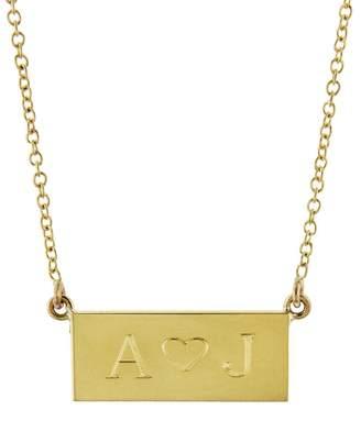 Jennifer Meyer Personalized Mini Nameplate Necklace - Yellow Gold