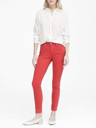 Banana Republic Mid-Rise Skinny Ankle Jean with Release Hem