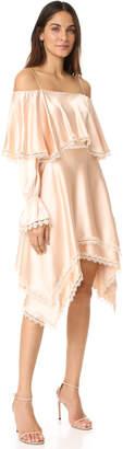 Jonathan Simkhai Off Shoulder Ruffle Dress