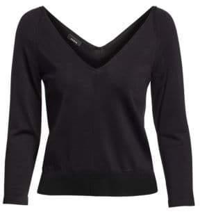 Akris Silk Knit V-Neck Sweater
