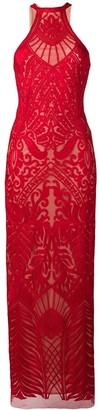 Galvan atlas gown