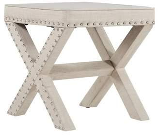 Inspire Q Rachel Nailhead Upholstered Stool