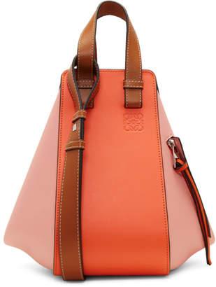 Loewe Orange and Pink Small Hammock Bag