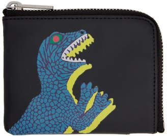 Paul Smith Black Dino Corner Zip Wallet
