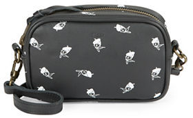 Kahri Beret Girl Leather Zip-Top Mini Crossbody Bag $80 thestylecure.com