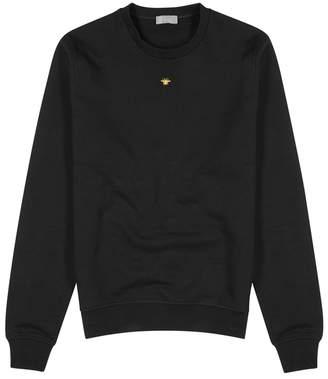 Christian Dior Black Bee-embroidered Cotton Sweatshirt