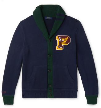 Polo Ralph Lauren Shawl-Collar Logo-Appliqued Cotton Cardigan