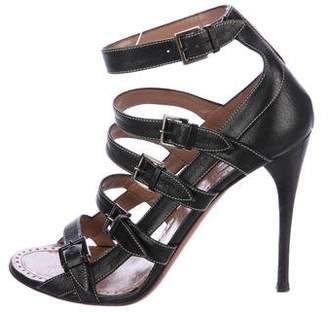 Alaia Buckle-Embellished Cage Sandals